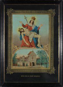 """""""Matka Boska na Bramce Chełmińskiej"""", wyk. J. Zadek Salomon, Strzelno, 1850-1920, oleodruk, fot. Marian Kosicki"""